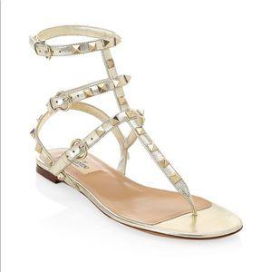 Valentina Rockstud Sandals - 36.5 Must See! 💥
